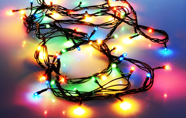 Picture light, lights, New Year, Christmas, garland, holidays