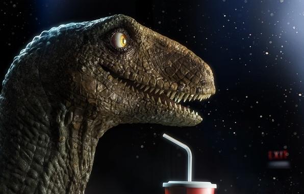 Picture dark, dinosaur, head, happy, raptor, exit