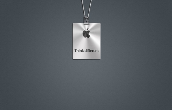 Picture grey, apple, logo, mac, Think Different