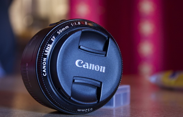 Picture background, black, the camera, lens, canon