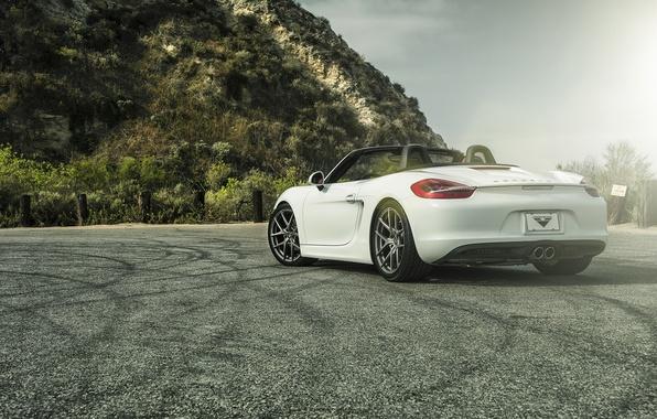 Picture car, white, tuning, Porsche, vorsteiner, porsche boxster