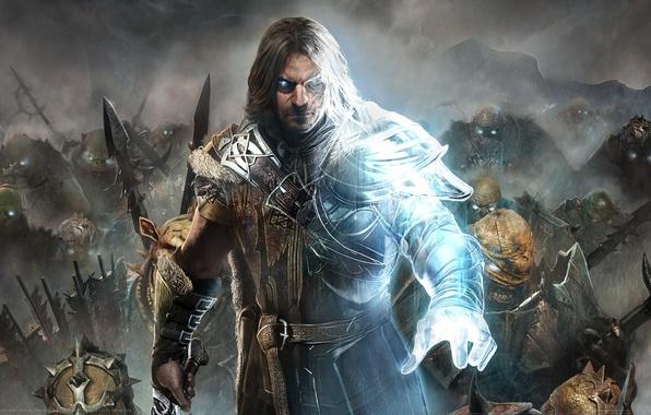 Picture Look, Smoke, Armor, Light, Sword, Magic, Warrior, Weapons, Ghost, Equipment, Warner Bros. Interactive Entertainment, Monolith …