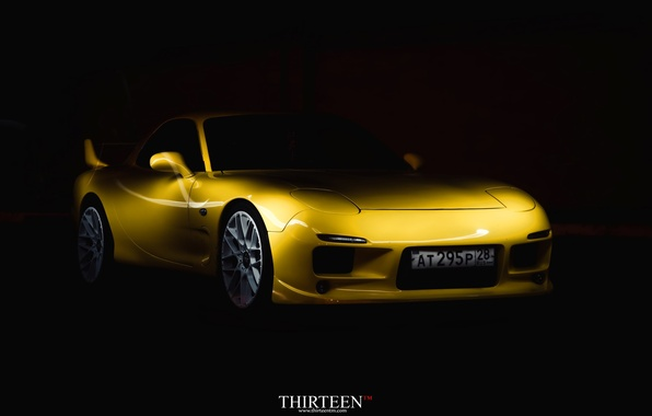 Picture machine, auto, coupe, room, Mazda, before, Mazda, bumper, auto, RX-7, RX7
