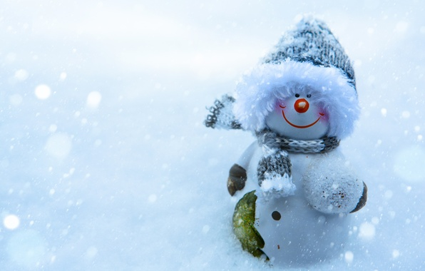 Picture winter, snow, smile, new year, Christmas, snowman, christmas, smile, winter, snow, New Year, snowman