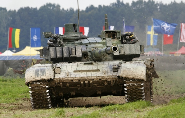 Picture field, tank, trunk, combat, armor, T-72