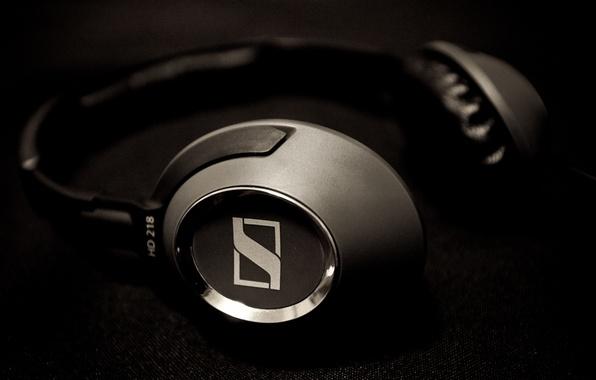 Picture music, music, headphones, headphones, sennheiser, HD218