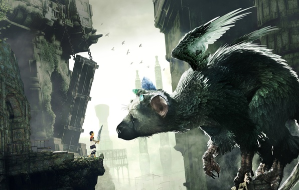 Picture Boy, Feathers, Wings, Temple, Beast, Claws, The Last Guardian, The guardian, Team Ico, Sony Computer …