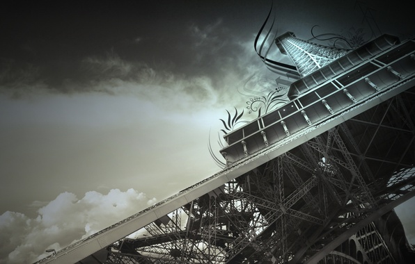 Picture the sky, Eiffel tower, France, Paris