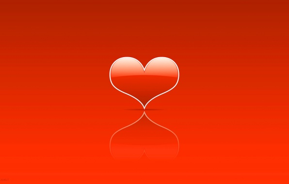 Picture heart, minimalism, lovers, heart, Holy, Valentin