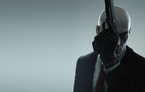 Wallpaper Gloves Weapons Figures Square Enix Guns Agent 47