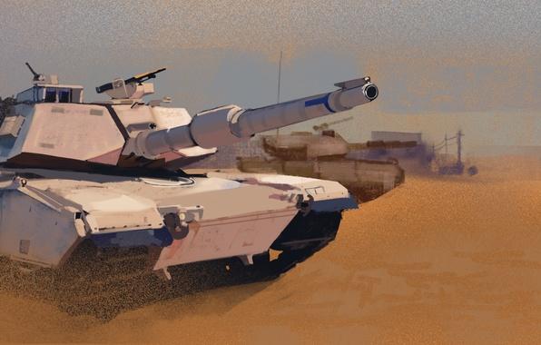 Picture tank, M1A1, Abrams, Abrams