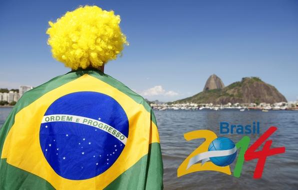 Picture football, logo, Brazil, football, flag, world Cup, World Cup, Brasil, FIFA, fan, 2014, fan