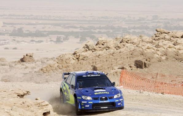 Picture Blue, Subaru, Impreza, Mexico, Turn, WRC, Subaru, Solberg, Rally, The front