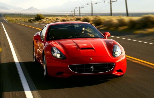 Picture car, machine, speed, red, california, ferrari, car, Ferrari, auto, convertible, CA, wallpapers, speed, rides, Krsna