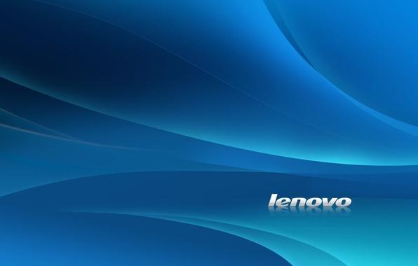 Picture white, line, blue, style, background, blue, Wallpaper, minimalism, texture, logo, lenovo, Lenovo