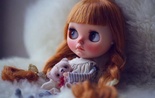 Picture toys, doll, red