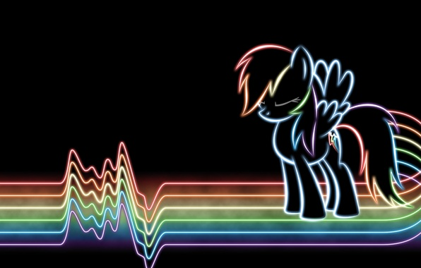 Picture line, rainbow, neon, rainbow, line, lines, neon, my little pony, rainbow dash, mlp, dash, rainbow, …