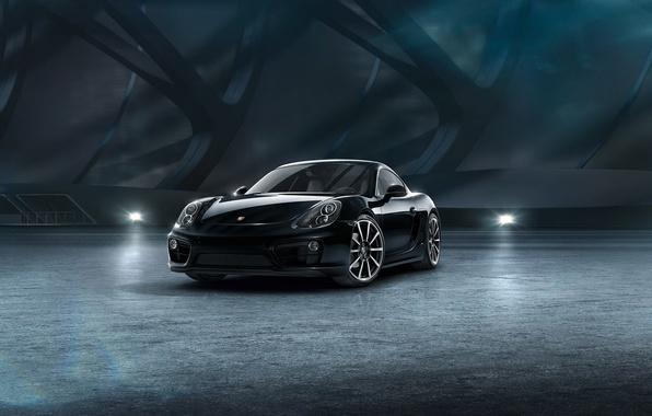 Picture car, black edition, porsche cayman