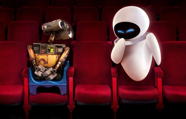 Picture red, chair, Wall-e, cinema, Eva
