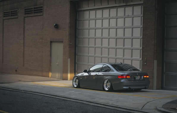 Picture street, BMW, wheel, 335i, side, tail lights, rear