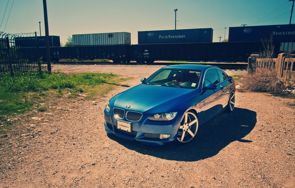 Picture train, BMW, 3Series, a piece of iron
