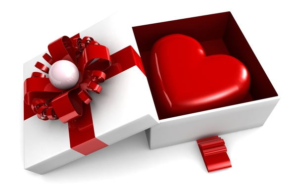Picture gift, heart, love, box, heart, romantic, Valentine's day, gift