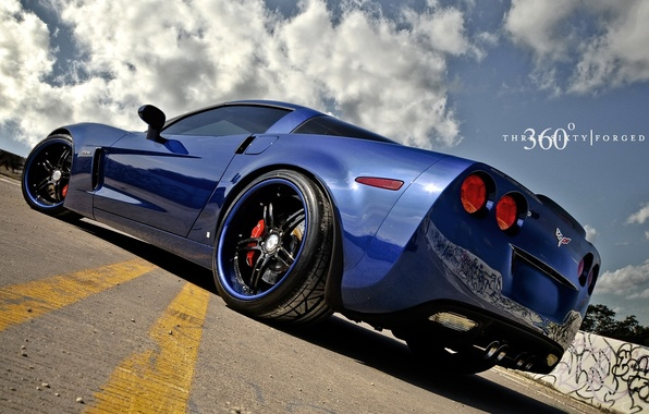 Picture blue, Z06, Corvette, Chevrolet, Chevrolet, blue, Corvette, 360 three sixty forged