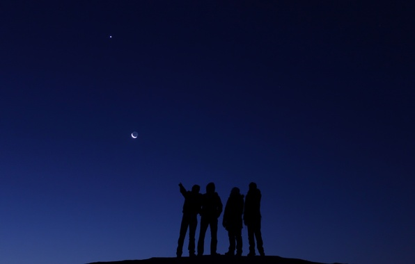 Picture space, people, The moon, Venus