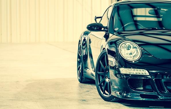 Picture car, 911, turbo, supercar, porsche, Porsche, black