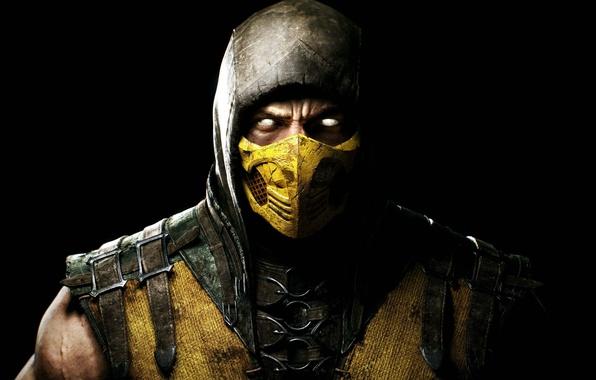 Picture look, mask, hood, fighter, Scorpio, ninja, Warner Bros. Interactive Entertainment, NINJA, Scorpio, NetherRealm Studios, Mortal …