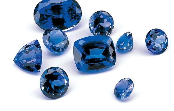 Photo Wallpaper Gemstone Blue Sapphire