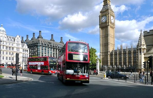 Picture London, london, big ben, buses