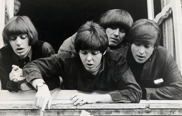 Picture photo, group, The Beatles, legend, monochrome, cover, Quartet, The Beatles