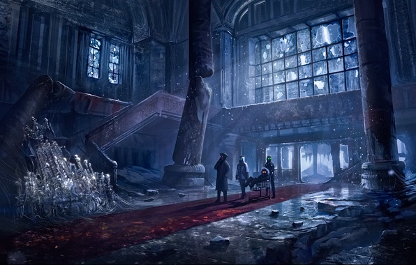 Picture columns, the hotel, art, hall, romantic apocalyptic