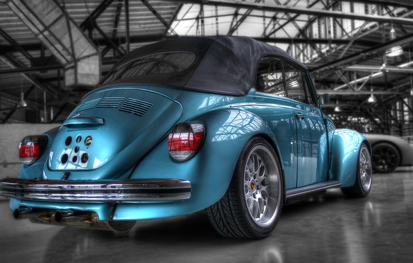 Picture blue, beetle, hdr, blue, power, beetle, voikswagen