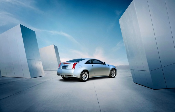 Picture Cadillac, The sky, Auto, Grey, CTS, Cadillac, Coupe