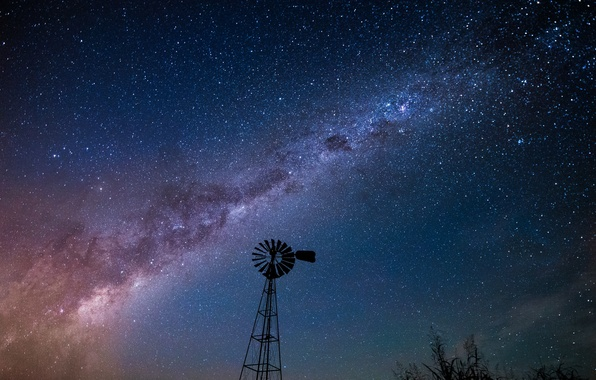 Picture space, stars, night, space, the milky way