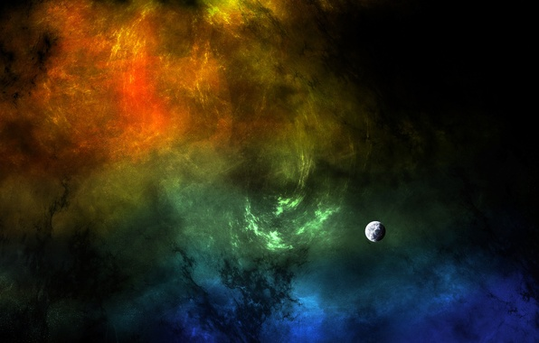 Picture nebula, the universe, color, planet