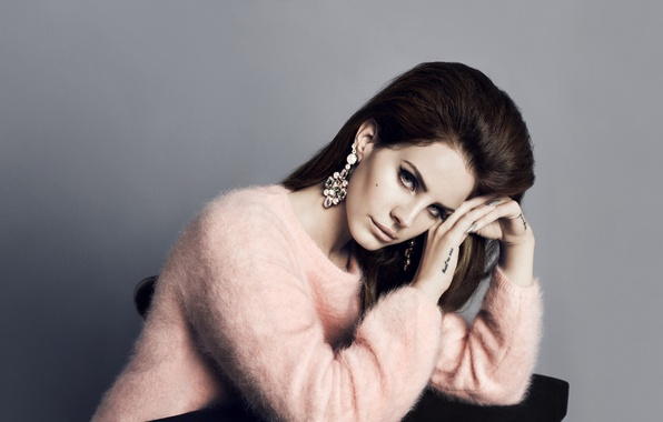 Picture hair, earrings, singer, sweater, Lana Del Rey, photo shoot H&M