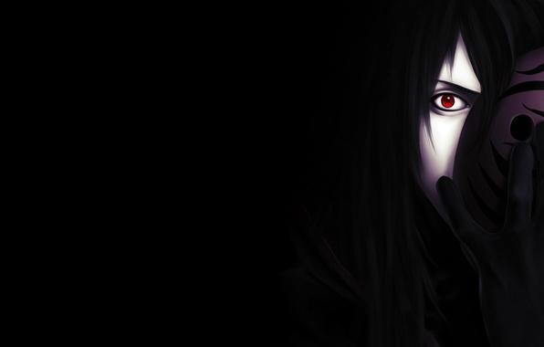 Wallpaper Dark Sharingan Madara Uchiha Mask Upholstered Obito Sight Behind Images For Desktop Section