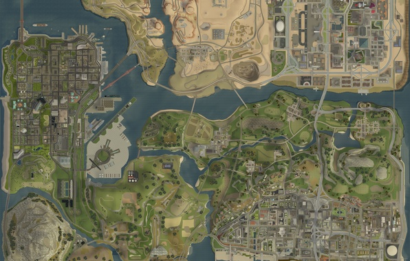 Picture map, game, map, GTA San Andreas