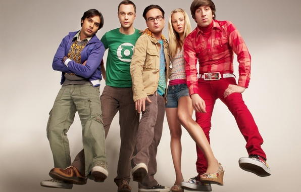 Picture the series, actors, The Big Bang Theory, Sheldon, penny