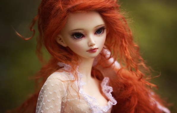 Picture toy, doll, redhead