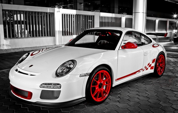 Picture white, 911, white, porsche, Porsche, gt3