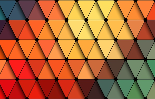 Picture line, abstraction, texture, the triangle
