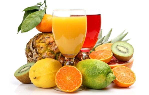Picture lemon, oranges, kiwi, lime, fruit, pineapple, citrus, grapefruit, Mandarin, juices