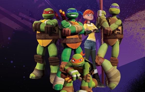 Picture Green, TMNT, Raphael, Leonardo, Donatello, Teenage Mutant Ninja Turtles, Michelangelo, Animation, Weapons, TV Series, Characters, …