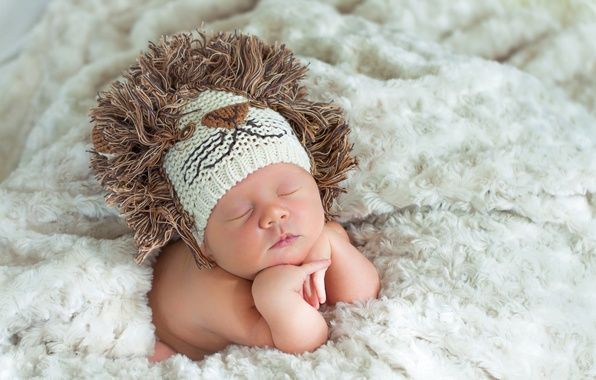 Picture hat, child, Leo, baby, blanket, knitted, baby