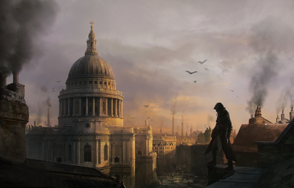 Picture the building, London, art, Assassin's Creed: Syndicate, Jacob Frye