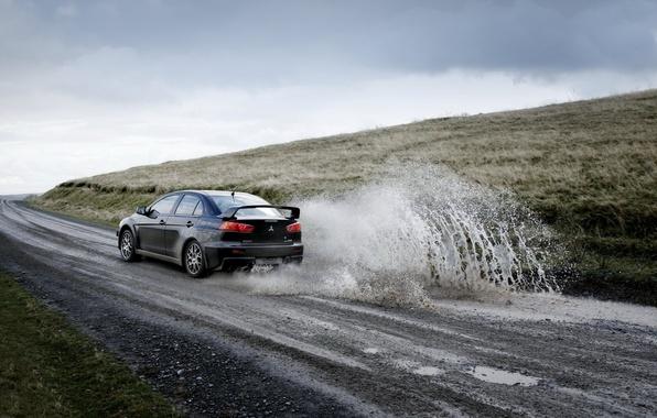 Picture road, machine, squirt, sport, Mitsubishi
